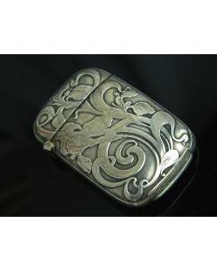 Art Nouveau Silver Match Strike