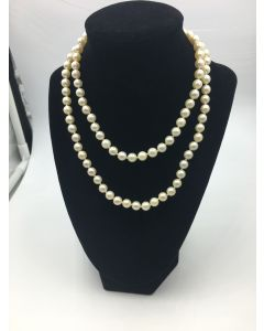 Pearl Necklace no Clasp Endless Strand