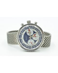 "MK Personal Collection Vintage Jumbo Bulova Chronograph C ""Stars and Stripes"" Valjoux 7736 Wristwatch Circa 1970."