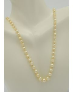 Pearl Necklace with Base Metal Clasp