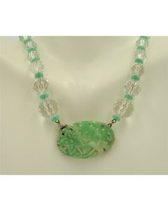 Crystal and Jade Necklace