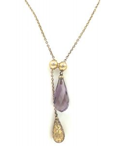 Victorian Yellow Gold and Amethyst Necklace