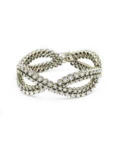 Contemporary White Gold and Diamond Bracelet