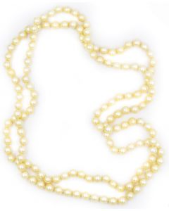 Contemporary Endless Pearl Necklace