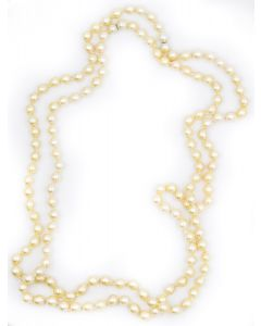 Contemporary Endless Strand Pearl Necklace