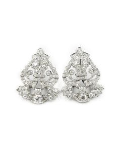 Estate Platinum and Diamond Earrings