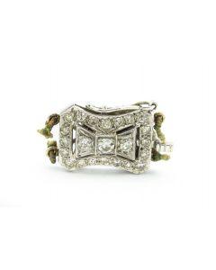 Art Deco Platinum and Diamond Clasp