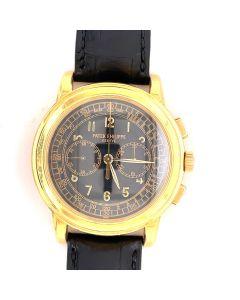 MK Personal Collection Men's 18K Yellow Gold Patek Philippe Genève Oversize Chronograph Movement No. 3146473 Ref. 5070 Circa 1990's