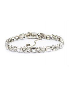 Estate 1960's Platinum and Diamond Bracelet