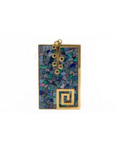 Contemporary Yellow Gold and Opal Pendant
