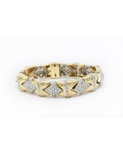 Estate Contemporary Yellow Gold and Diamond Bracelet