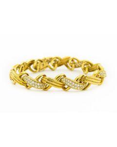 Estate Jose Hess Yellow Gold and Diamond Bracelet