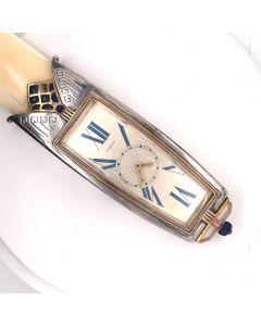 Rare Oversized Cartier Lapis Lazuli & Rock Crystal Letter Opener/Watch No 2484/1529 Circa 1927