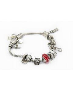 Sterling Silver Charm Bracelet By Linea Donatella