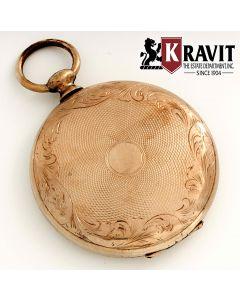 Georgian Gold Filled Pocket Watch Style Locket
