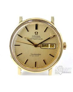 MK Personal Collection Rare 14K Omega Seamaster DeVille Tiffany & Co Wristwatch Circa 1972