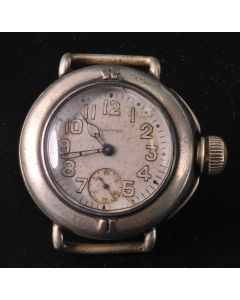 PRIVATE COLLECTION MK Rare Early WWI American Waltham Canteen Depollier Trench Watch Circa 1919