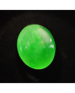 Exquisite Loose Natural Apple Green Jadeite Jade 14.40cts AGL Report