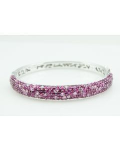 Contemporary Effi Sterling Silver and Pink Sapphire Bracelet