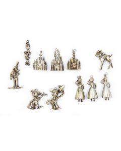 Vintage Authentic Walt Disney Production Sterling Silver Charms (11 pieces)