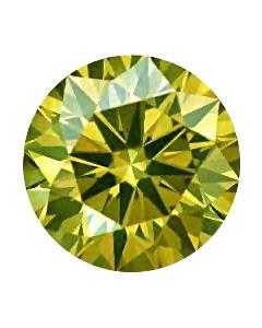 Round 0.17 Fancy Light Greenish Yellow, VS2 GIA 5202977859