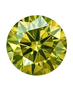 Round 0.17 Fancy Light Green-Yellow I2 GIA 6203977846