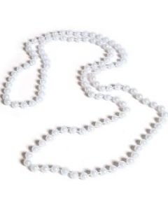 1950's Sterling Silver Clasp Pearl Necklace